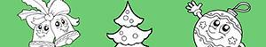 ausmalbilder Schmücken den Weihnachtsbaum malvorlagen