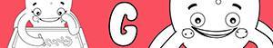 ausmalbilder Mädchennamen mit G malvorlagen