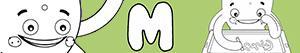 ausmalbilder Jungennamen mit M malvorlagen