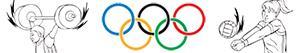 ausmalbilder Olympischen Sport. Verschiedenes malvorlagen